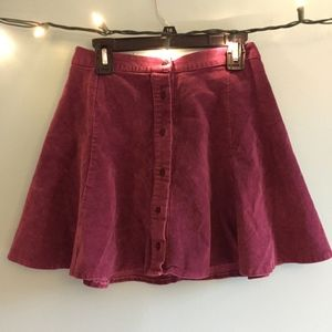 Suede Violet Skirt by Brandy Melville